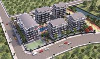 AL-476-3, Alanya Oba'da Teraslı Zengin Sosyal Olanaklara Sahip 140 m² Daireler